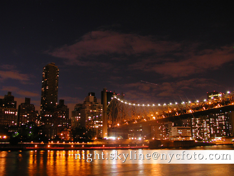 new york city at night skyline. NYCfoto.com | New York City